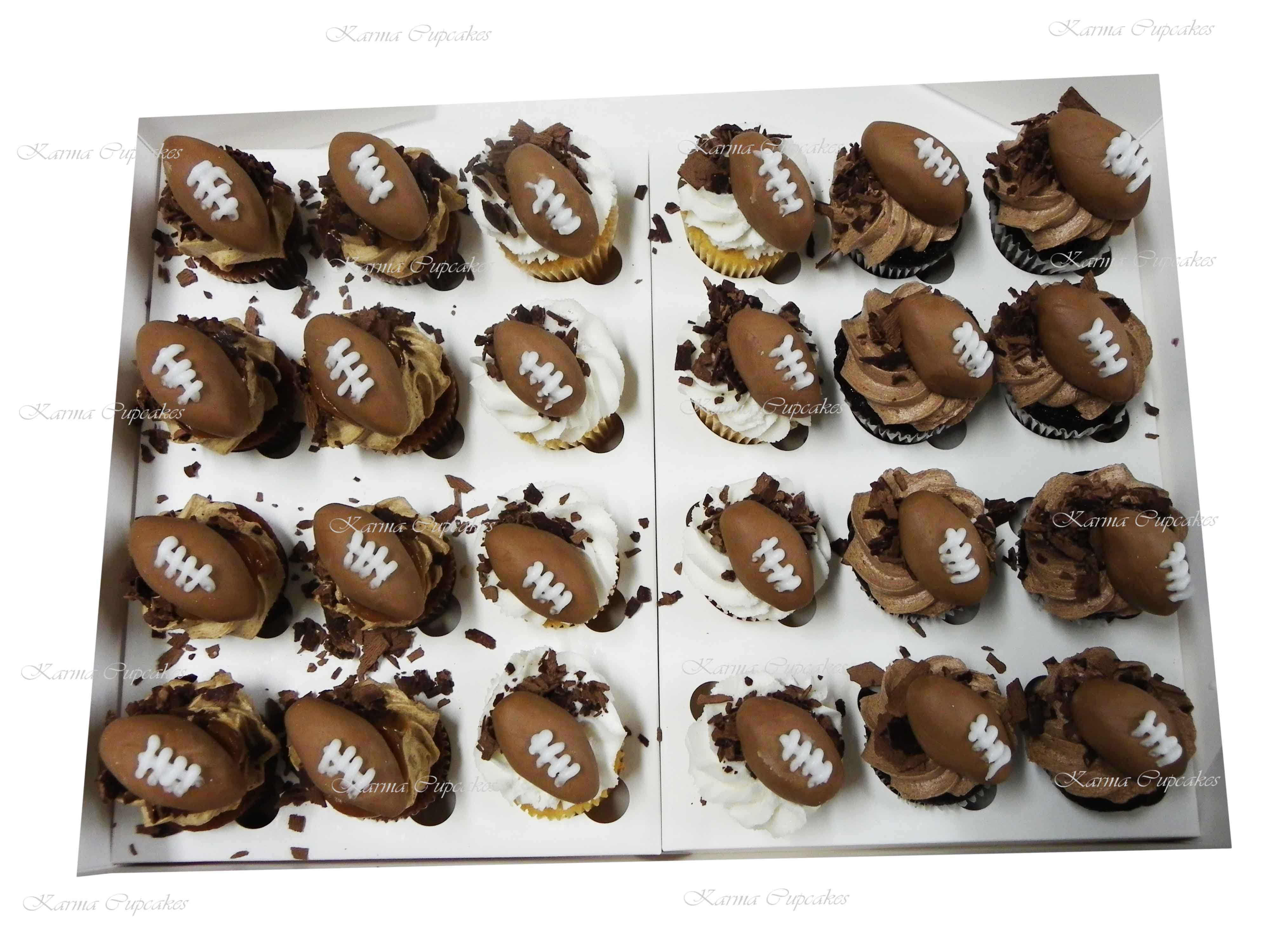 3D Football Mini Cupcakes