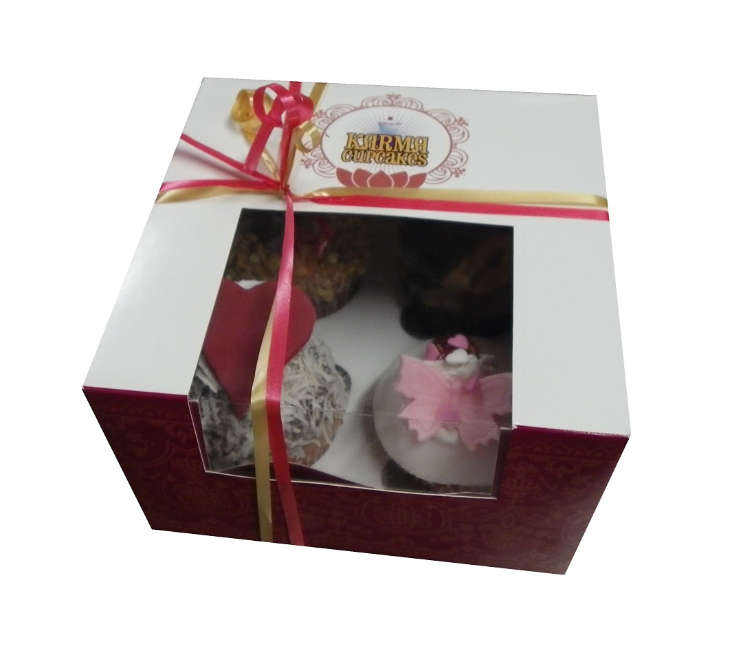 Gift Box of 4 cupcakes