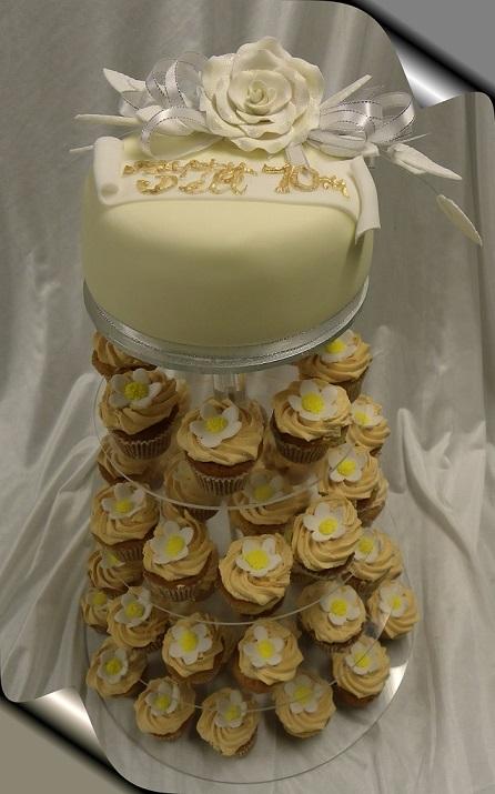 Gluten Friendly Mini Cupcake Tower