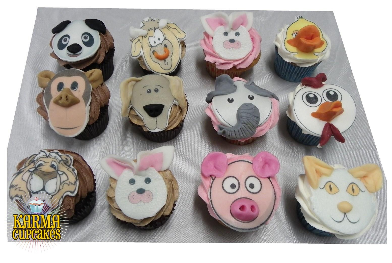 Animal Faces Cupcakes
