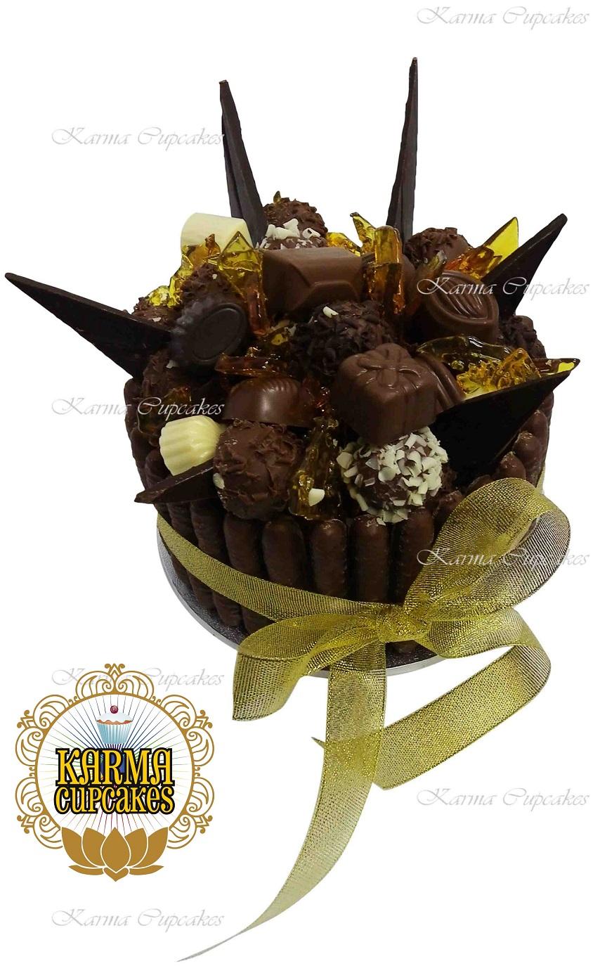 Chocolate Box Cake with Toffee Shards