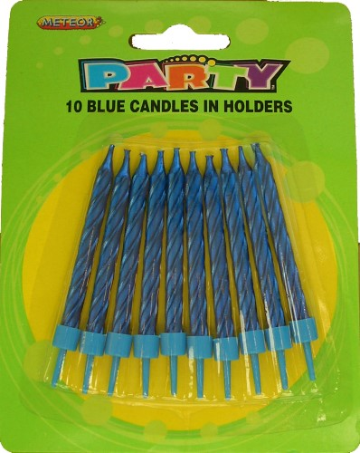 10 Blue Candle Set