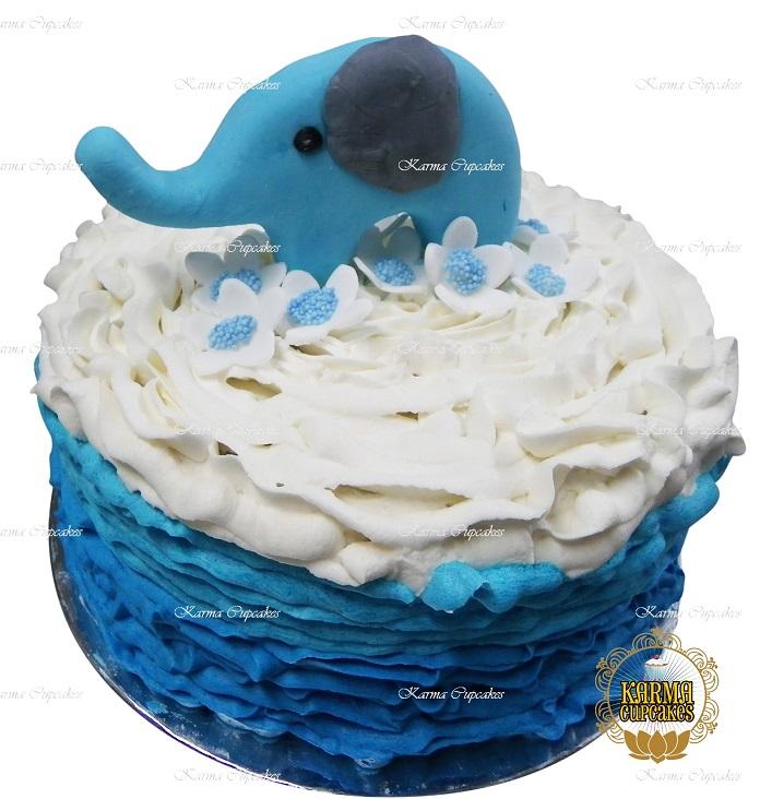"Elephant 8"" Cake - Choose your colours"