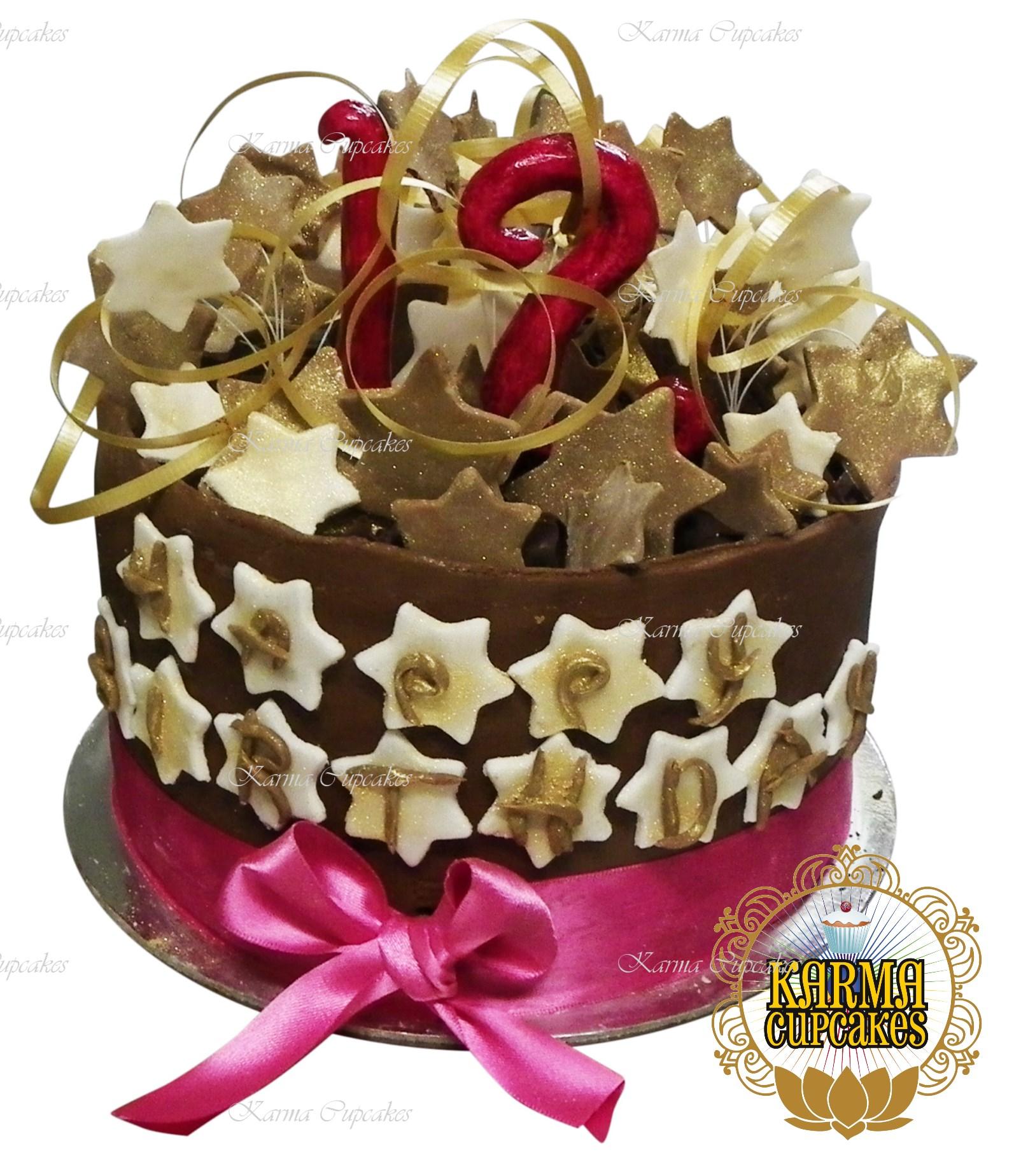 Chocolate Stars Birthday Cake