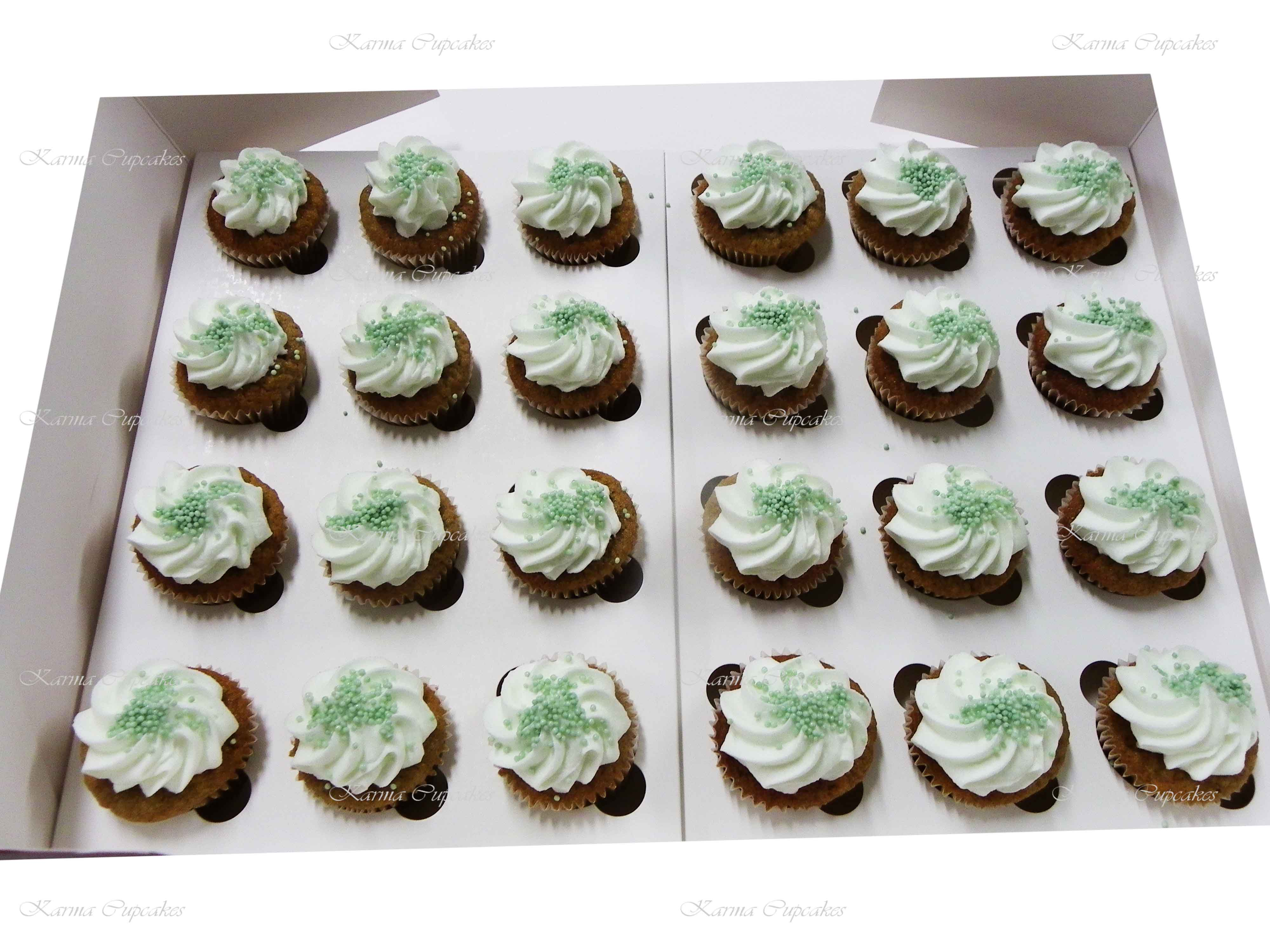 Classic Mini Cupcakes with a traditional swirl of buttercream icing