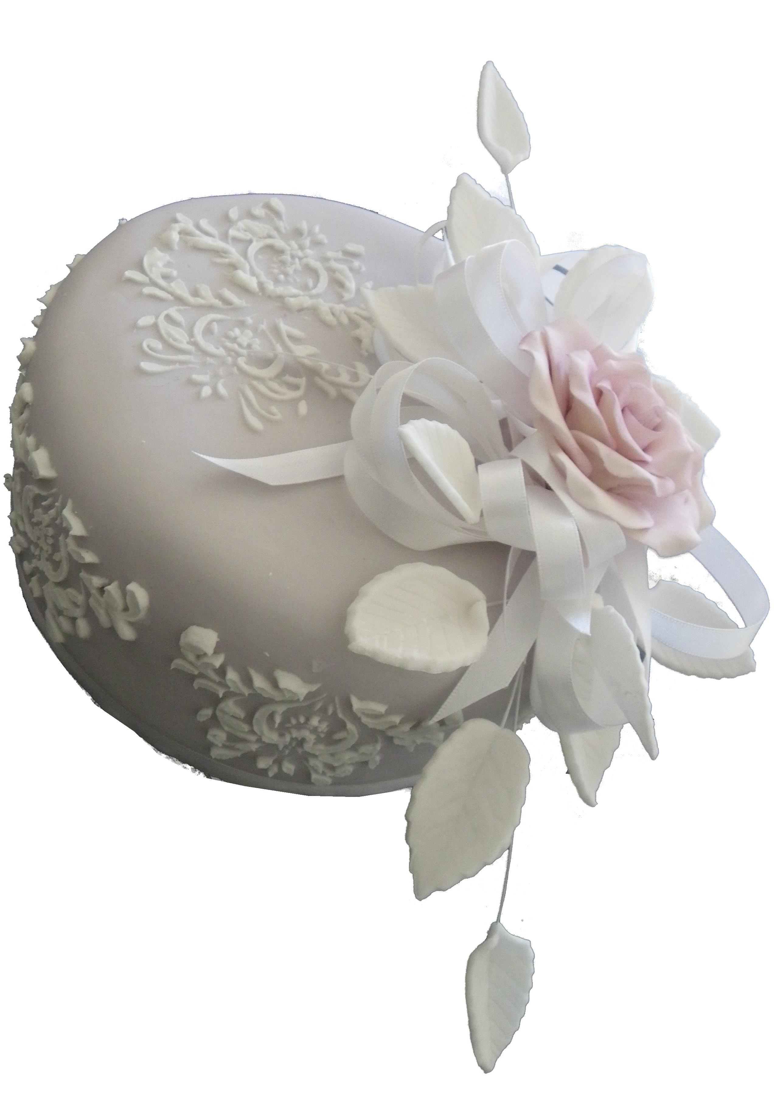 Embossed Single Rose cake