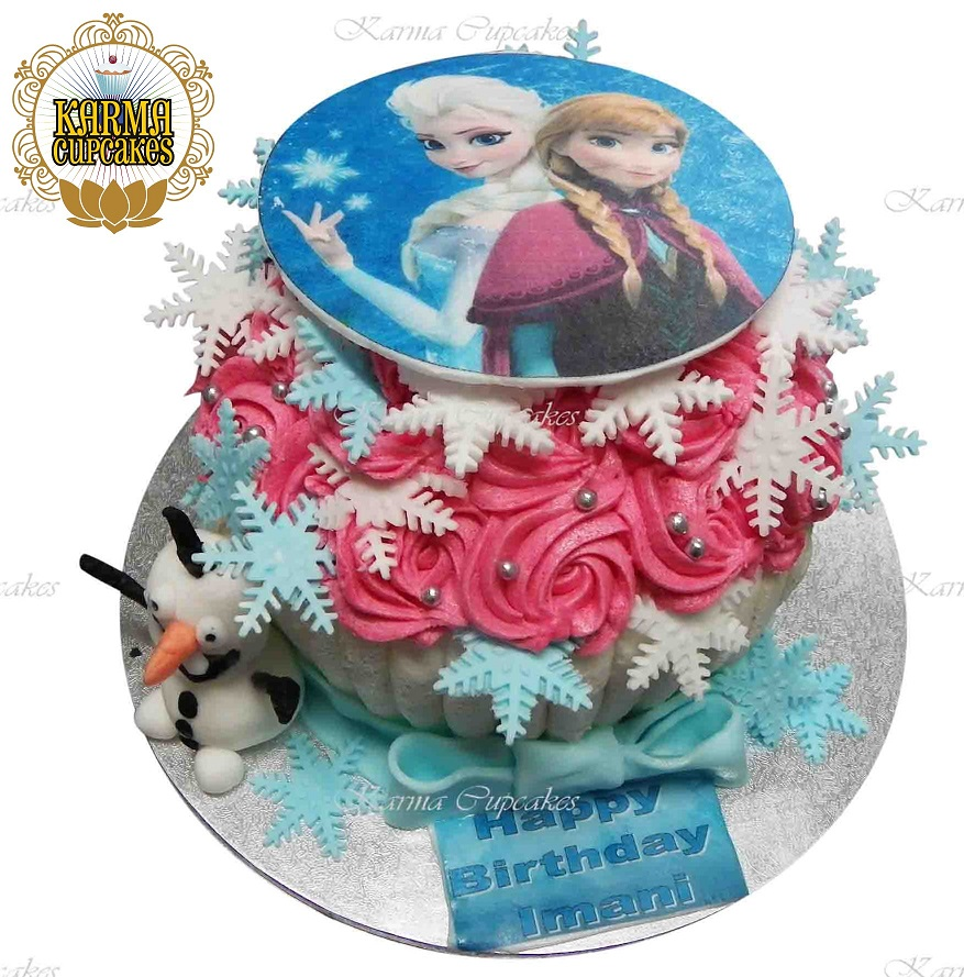 Frozen Giant Cupcake