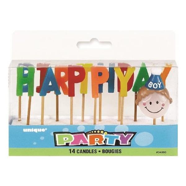 Happy Birthday Boy Candle Set
