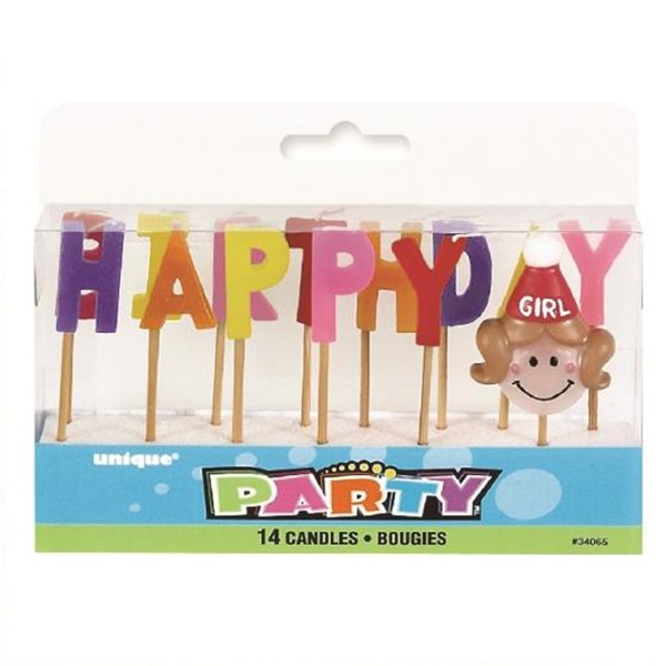 Happy Birthday Girl Candle Set