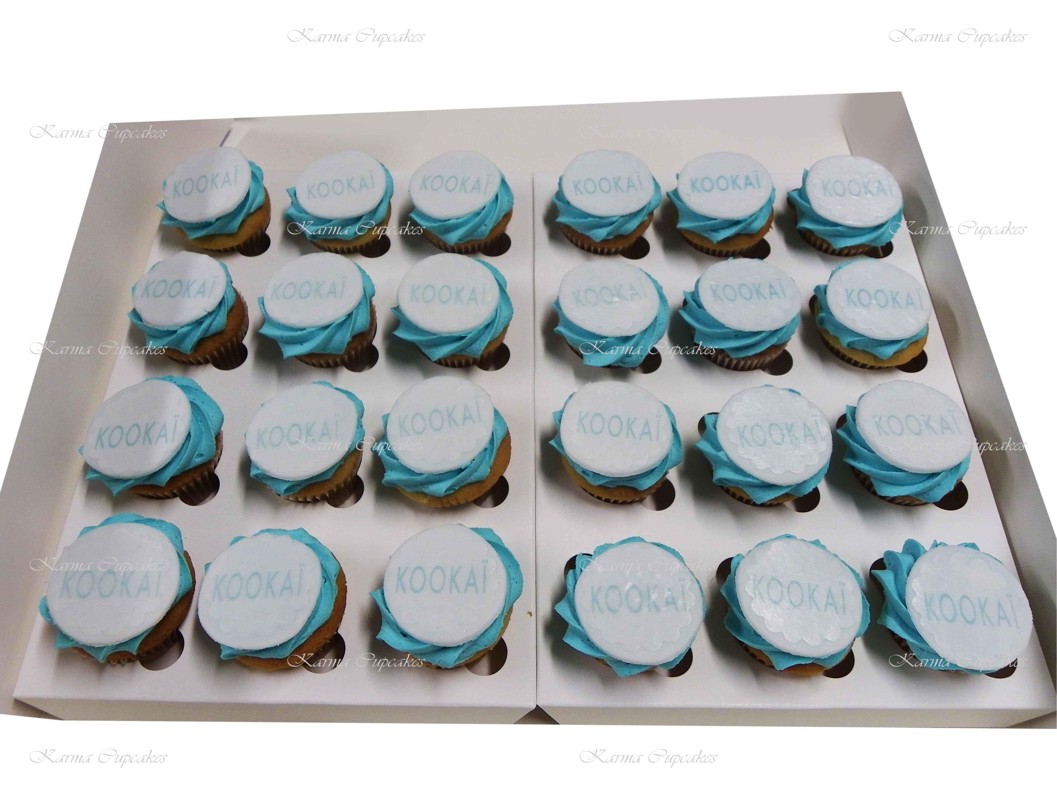 Round Logo on a Mini Cupcake - Min 24