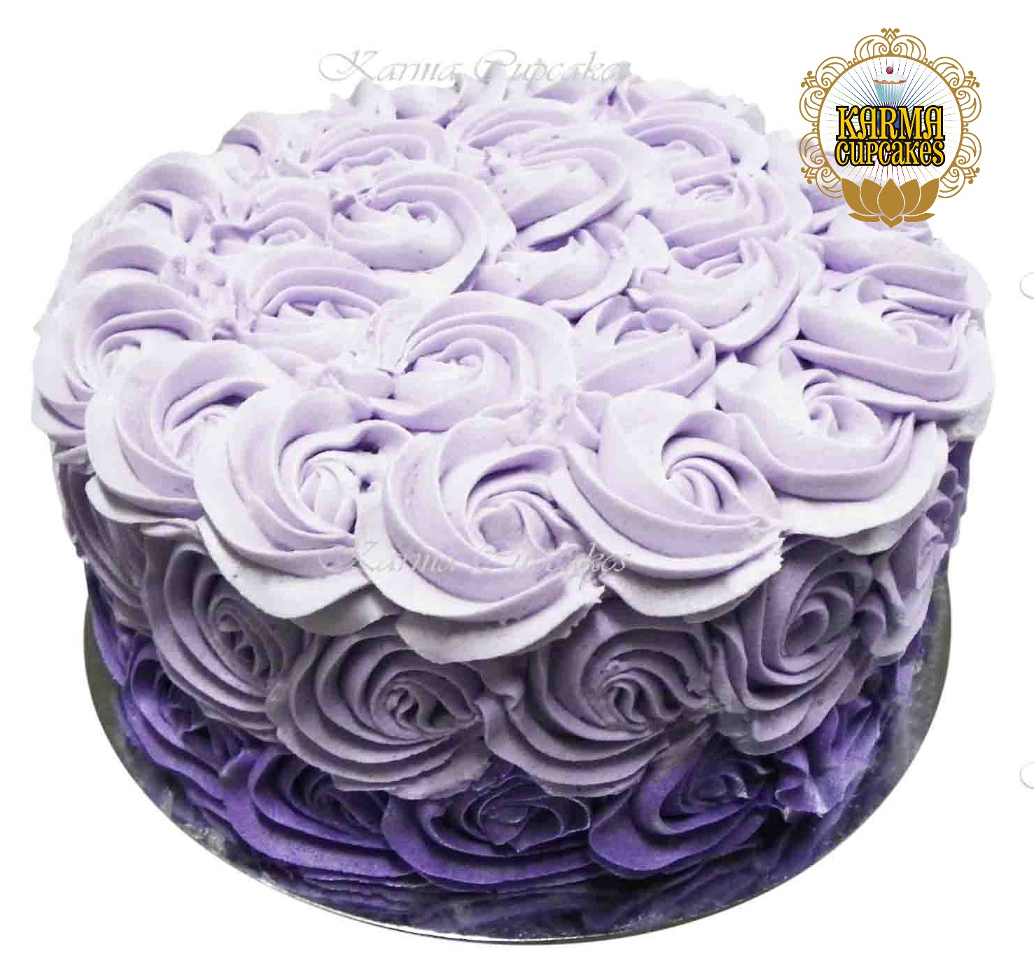 """8"""" Ombre Rose Swirl Buttercream Cake - Choose your colour"""