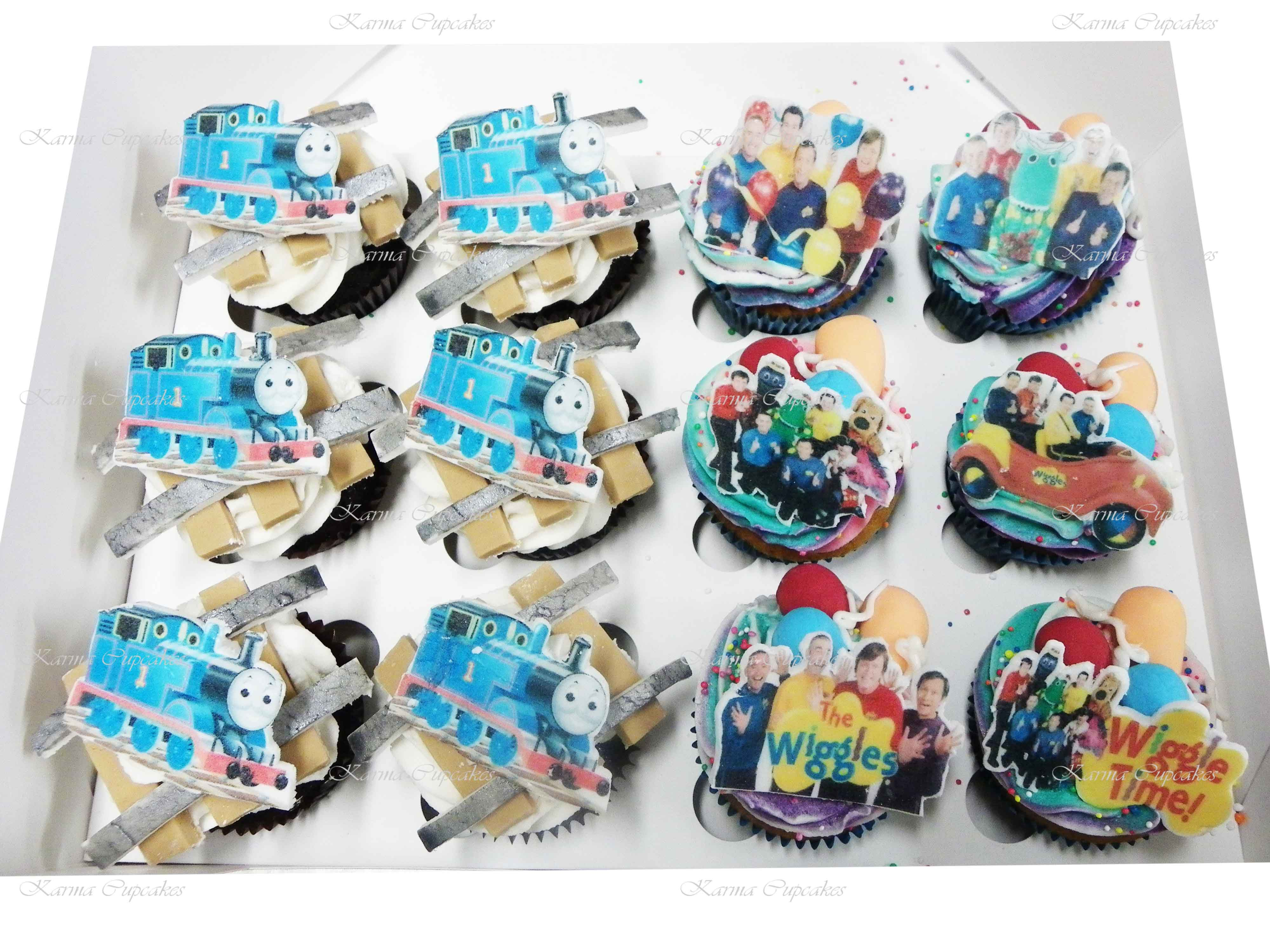 Thomas the Tank Engine and The Wiggles Gourmet Cupcakes