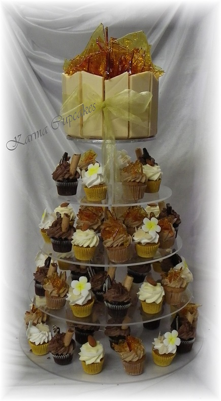 Triple Chocolate cheesecake with a variety of flavoured high tea mini cakes