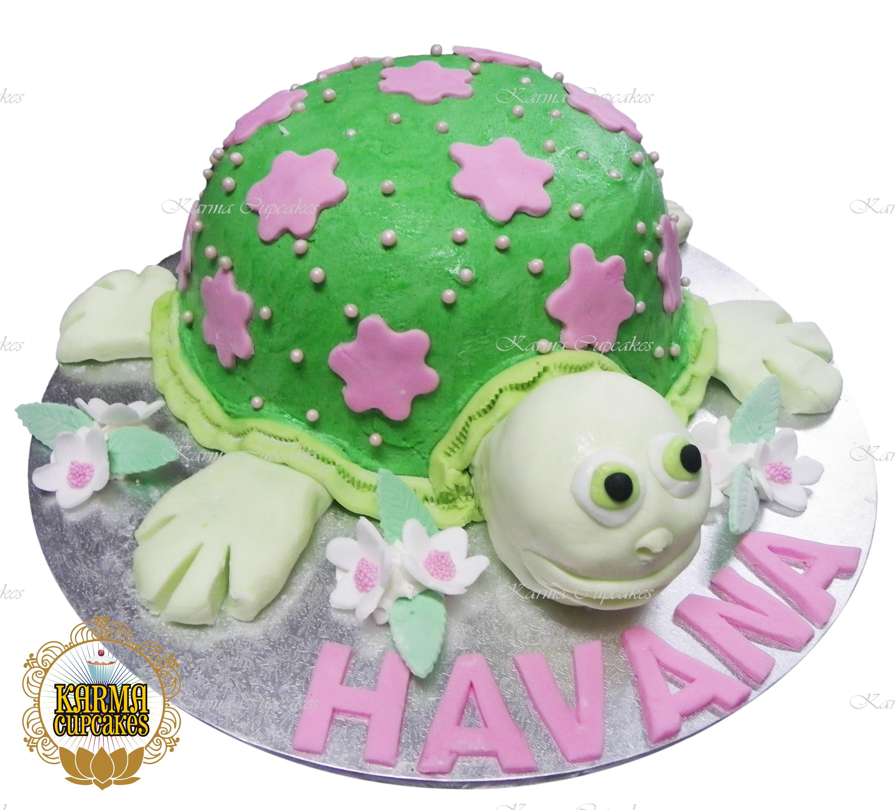 Turtle 3D Birthday Cake