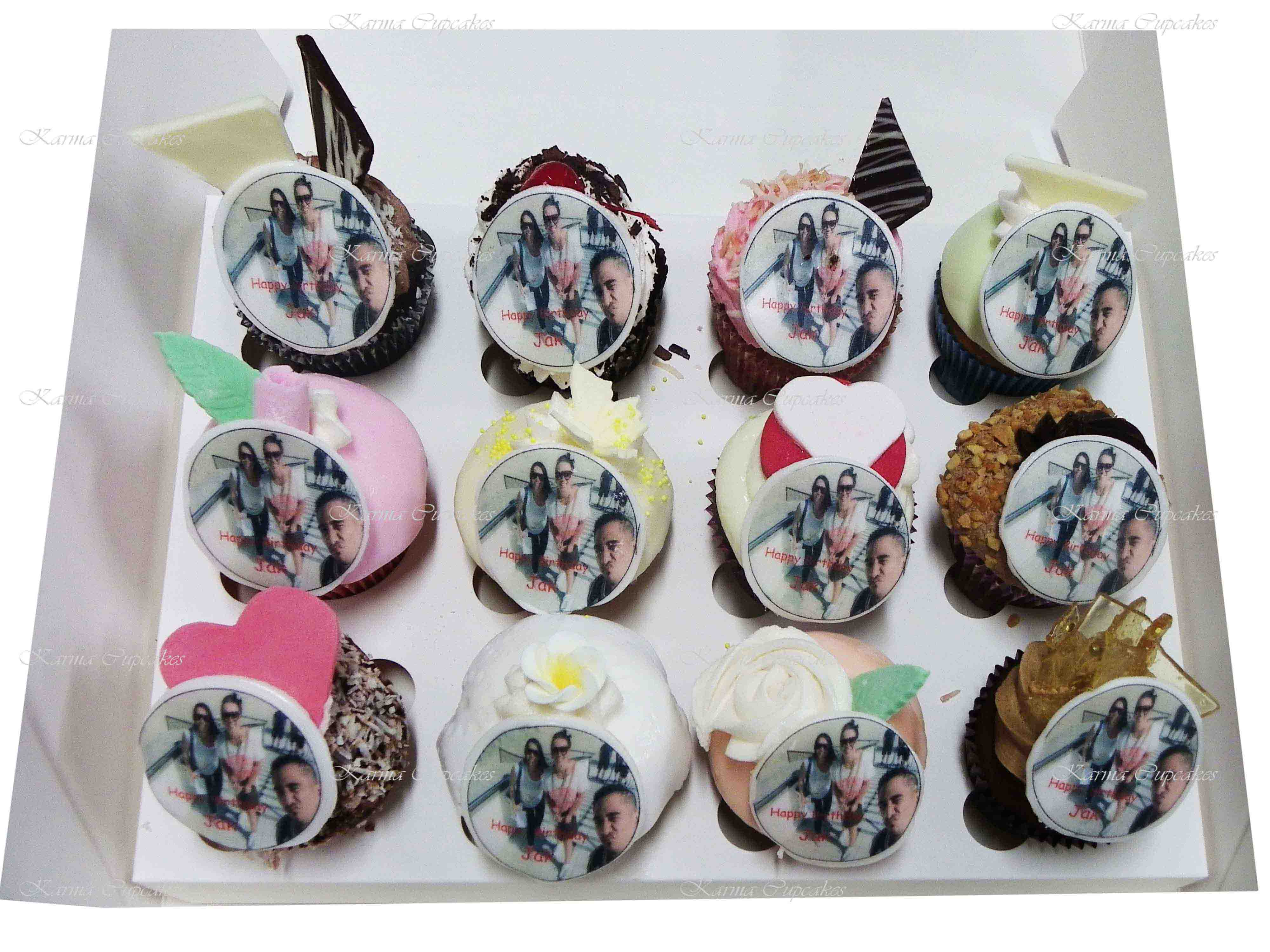 Mystery box of Gourmet Cupcakes with Edible Photo