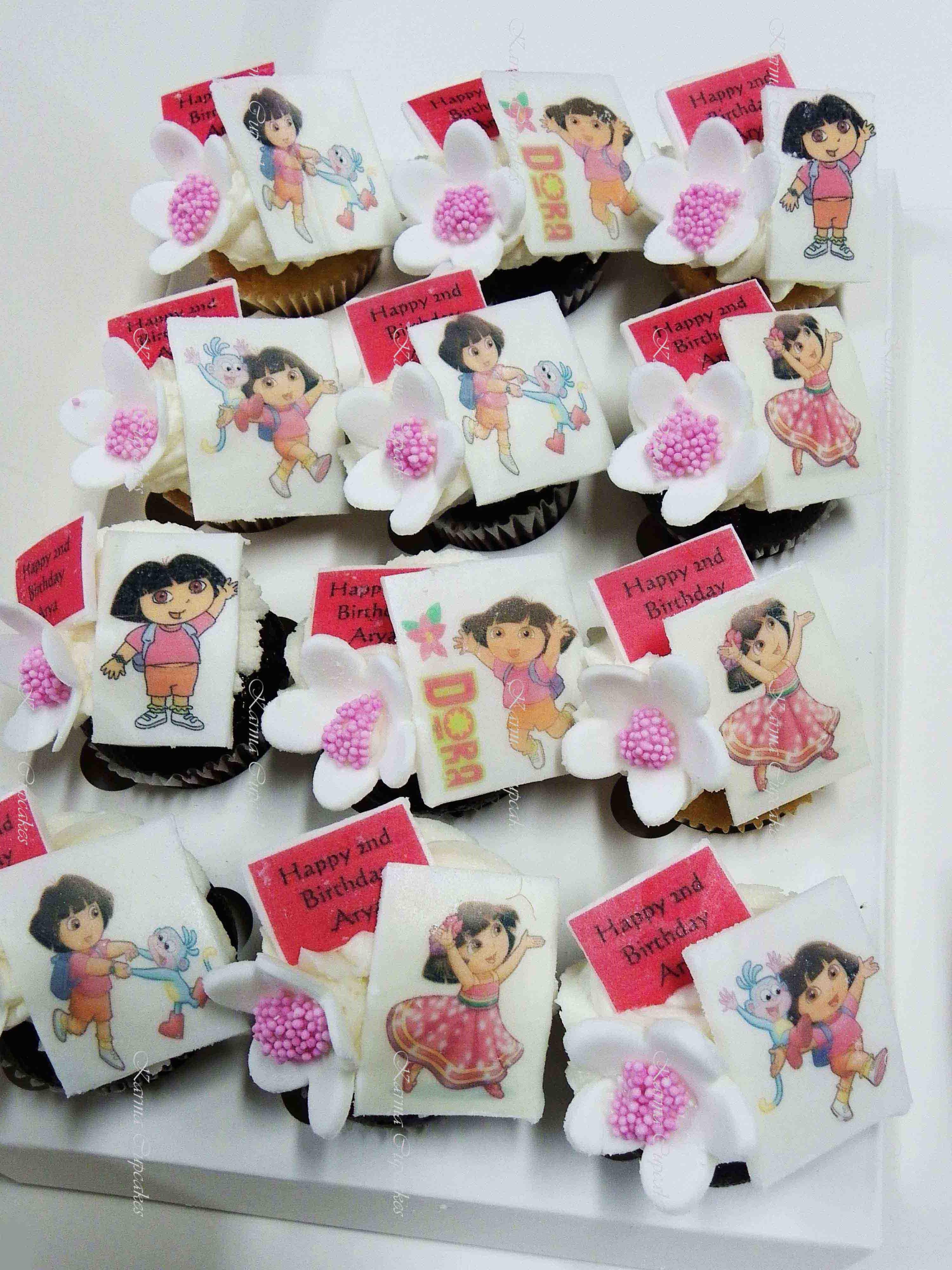 Dora the Explorer Mini Cupcakes