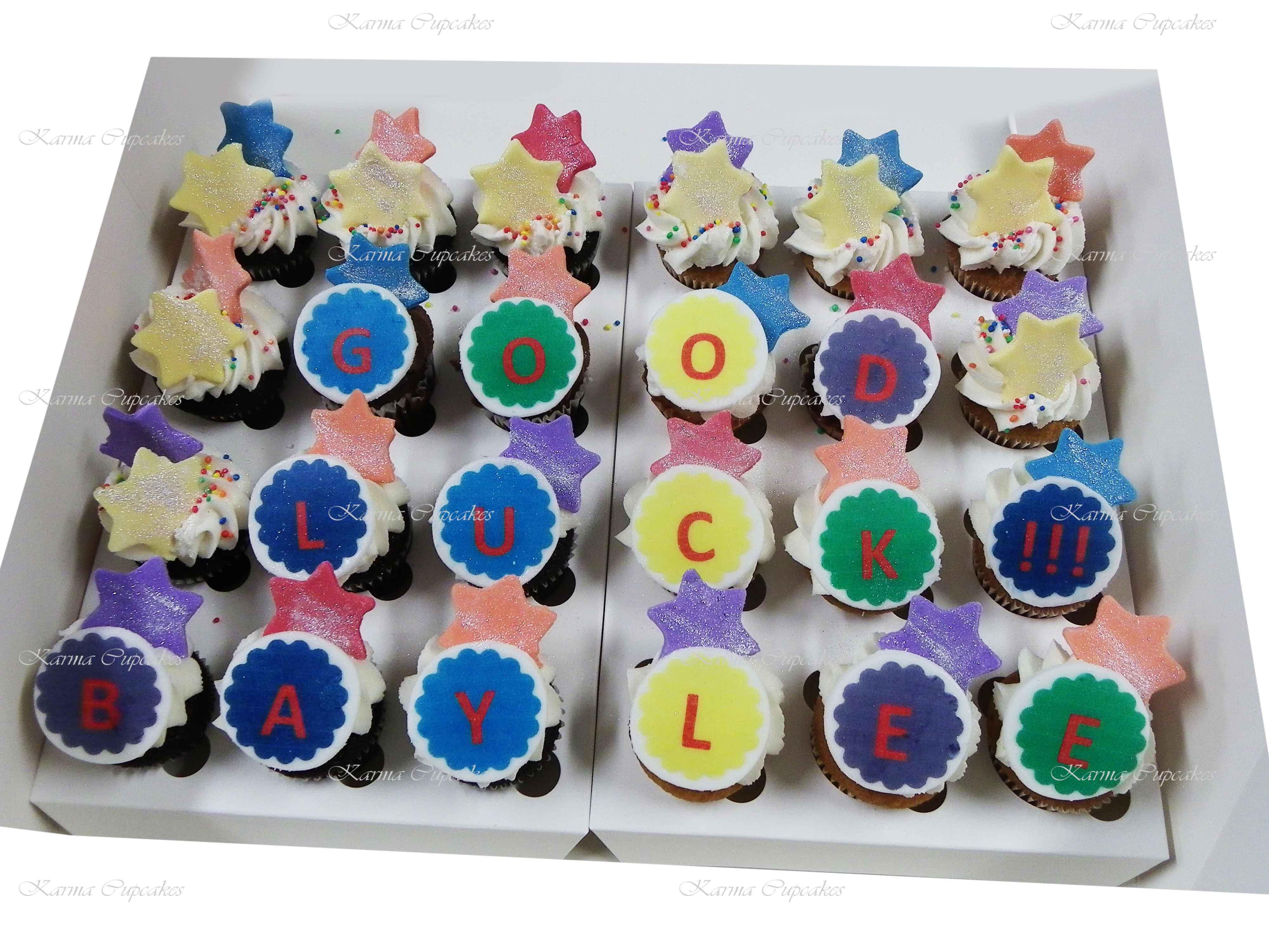 Good Luck Rose Swirl High Tea Cupcakes
