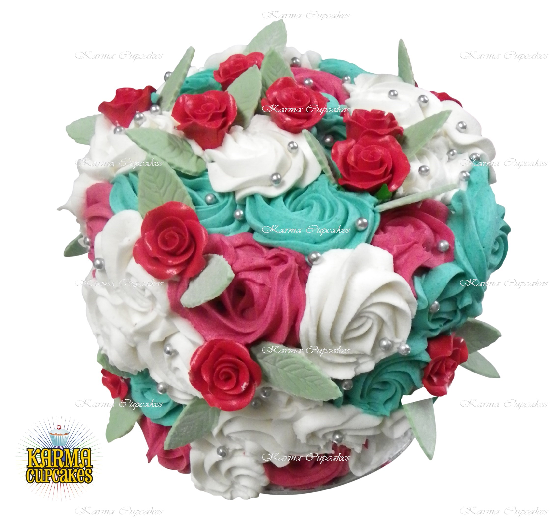"""6"""" Rose Swirl Cake - choose your own colour/s"""