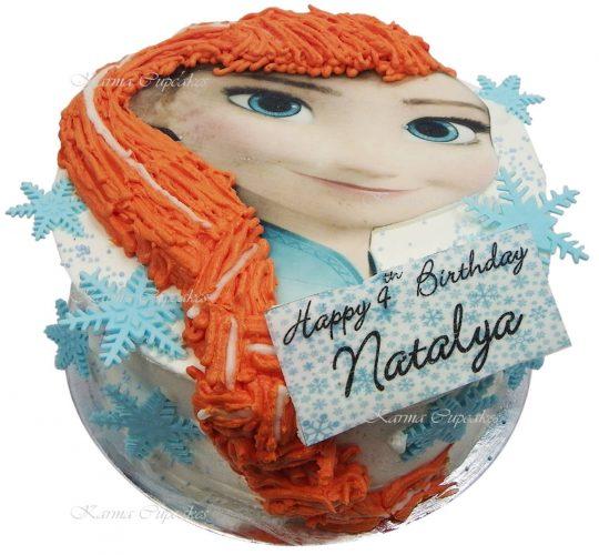 Kids Frozen Elsa birthday cake copy